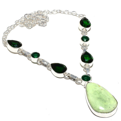 Lemon Chrysoprase Jewelry Necklace 18 Inches RN155
