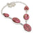 Rhodonite Gemstone Handmade Jewelry Necklace 18 Inches RN160