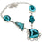 Green Slice Agate Druzy Gemstone Jewelry Necklace 18 Inches RN201