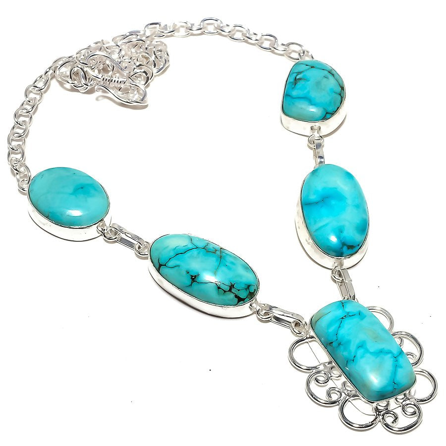 Santa Rosa Turquoise Gemstone Jewelry Necklace 18 Inches RN218