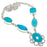 Blue Chalcedony Gemstone Handmade Jewelry Necklace 18 Inches RN237
