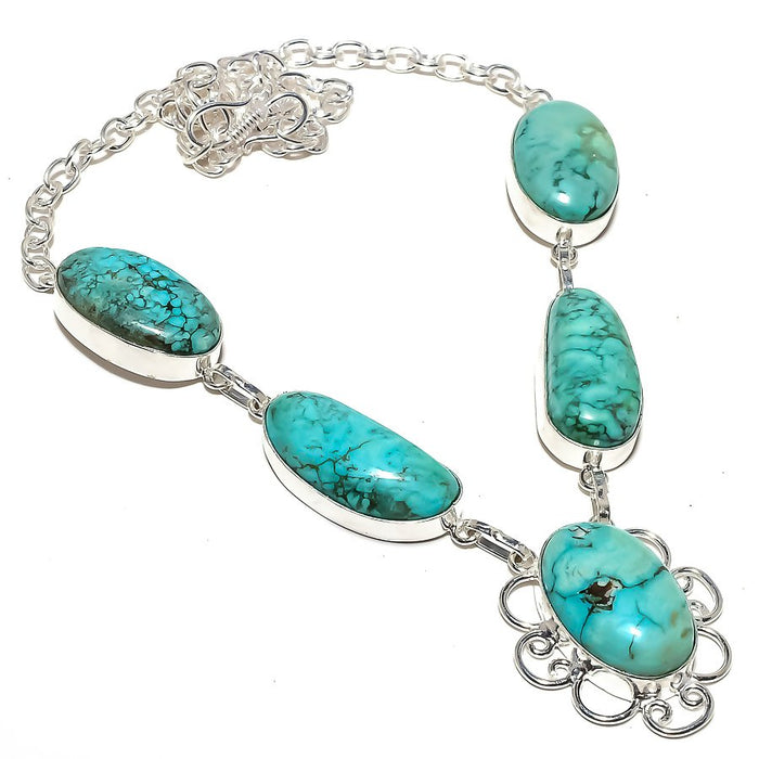 Santa Rosa Turquoise Gemstone Jewelry Necklace 18 Inches RN243