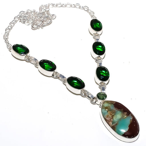 Boulder Chrysoprase Jewelry Necklace 18 Inches RN266