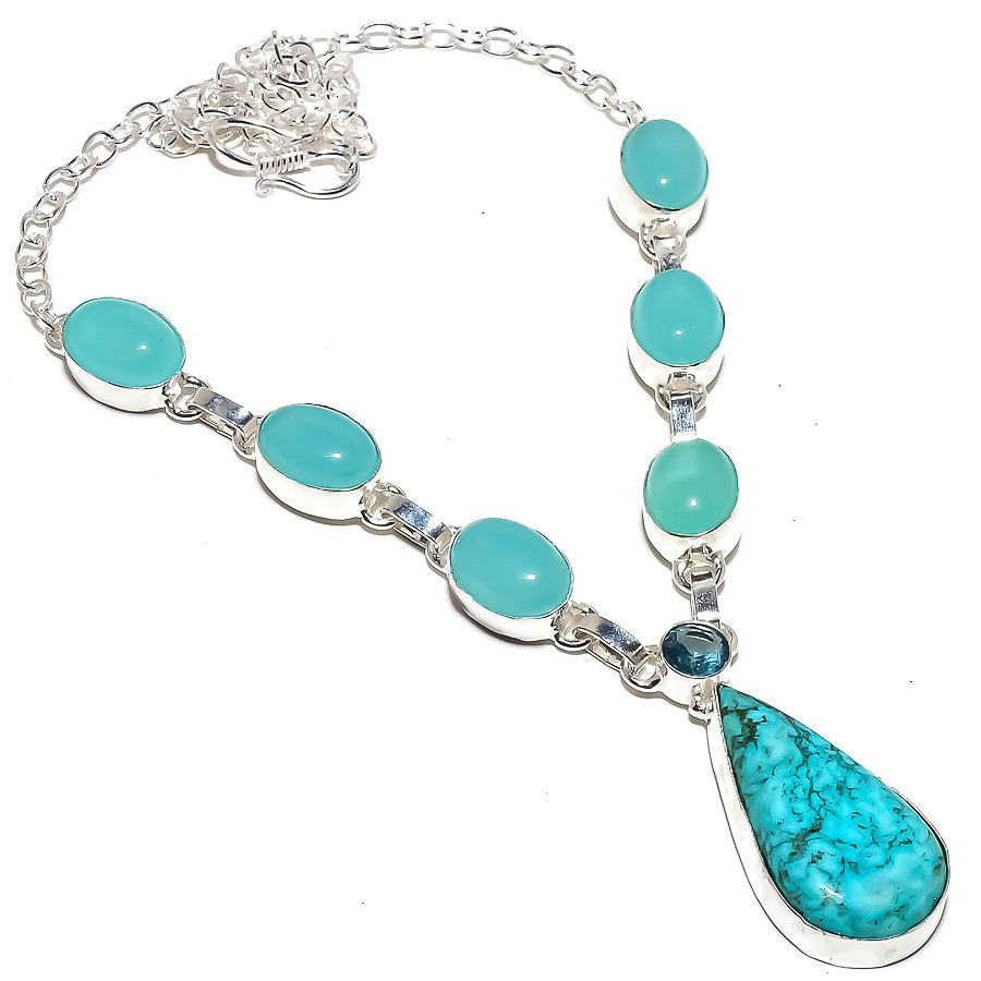 Santa Rosa Turquoise Jewelry Necklace 18 Inches RN280