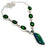 Triplet Fire Opal Jewelry Necklace 18 Inches RN301