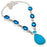 Blue Chalcedony, Blue Topaz Jewelry Necklace 18 Inches RN308