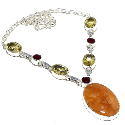 Yellow Aventurine, Lemon Topaz Jewelry Necklace 18 Inches RN35
