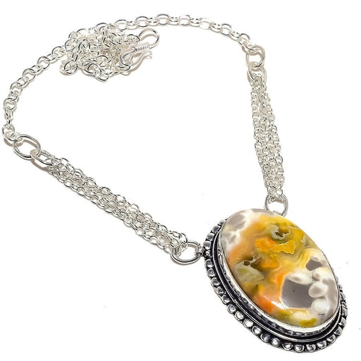 Bumble Bee Jasper Gemstone Ethnic Jewelry Necklace 18 Inches RN377