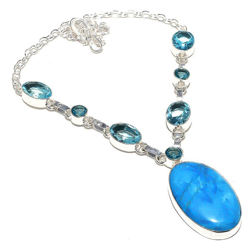 Sleeping Turquoise, Blue Topaz Jewelry Necklace 18 Inches RN47