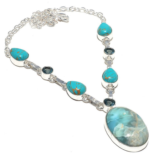 Caribbean Larimar Jewelry Necklace 18 Inches RN58