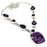 Copper Purple Turquoise, Amethyst Jewelry Necklace 18 Inches RN81