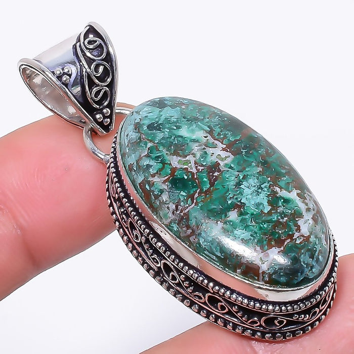 Cuprite Chrysocolla Gemstone Jewelry Pendant 2.0 Inches RP105