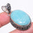 Amazonite Gemstone Handmade Jewelry Pendant 1.9 Inches RP108