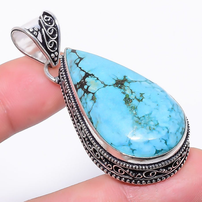Santa Rosa Turquoise Gemstone Jewelry Pendant 2.2 Inches RP109