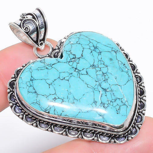 Heart - Santa Rosa Turquoise Jewelry Pendant 2.2 Inches RP1240
