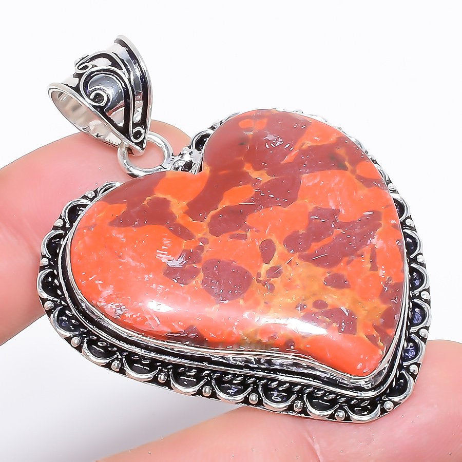 Heart - Copper Red Turquoise Jewelry Pendant 2.2 Inches RP1247