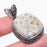 Fossil Coral Gemstone Vintage Jewelry Pendant 1.7 Inches RP131