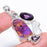 Copper Purple Turquoise Jewelry Pendant 2.0 Inches RP1519