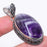 Chevron Amethyst Gemstone Vintage Jewelry Pendant 2.3 Inches RP165