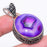 Purple Agate Druzy Vintage Jewelry Pendant 1.8 Inches RP166
