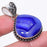 Blue Lace Agate Druzy Gemstone Jewelry Pendant 1.6 Inches RP28