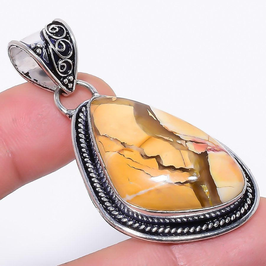 Brecciated Mookaite Gemstone Jewelry Pendant 2.1 Inches RP34