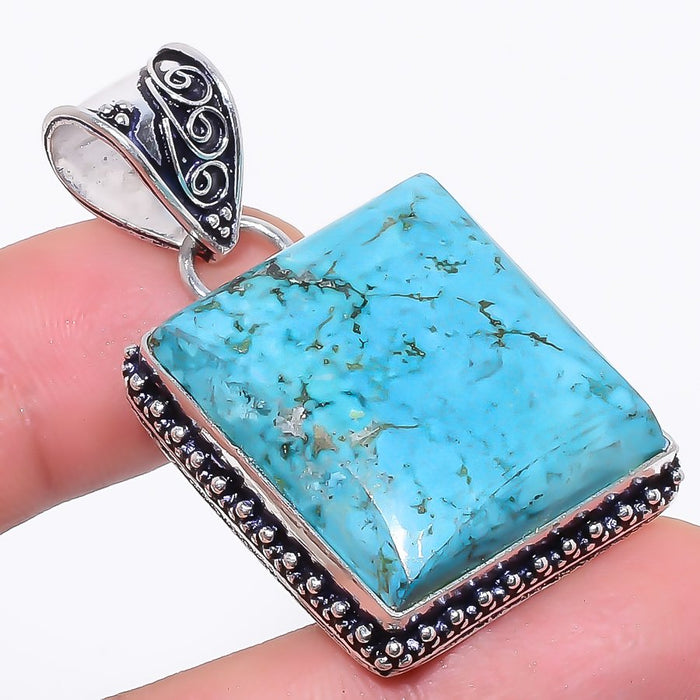 Santa Rosa Turquoise Gemstone Jewelry Pendant 1.8 Inches RP36