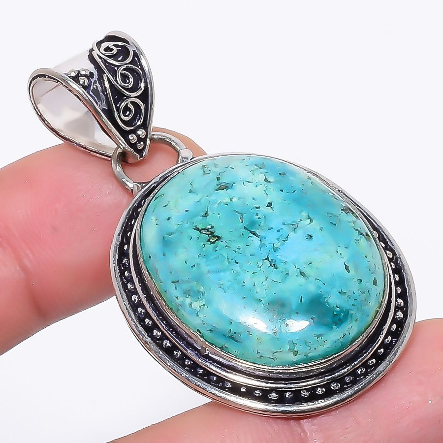 Santa Rosa Turquoise Gemstone Jewelry Pendant 2.0 Inches RP42
