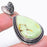 Lemon Chrysoprase Gemstone Ethnic Jewelry Pendant 2.1 Inches RP48