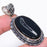Black Onyx Druzy Gemstone Handmade Jewelry Pendant 2.2 Inches RP51