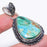 Azurite Malachite Gemstone Ethnic Jewelry Pendant 2.0 Inches RP52