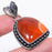 Carnelian Gemstone Handmade Ethnic Jewelry Pendant 1.8 Inches RP59