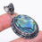 Abalone Shell Gemstone Handmade Jewelry Pendant 2.0 Inches RP67