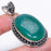 Green Agate Druzy Gemstone Ethnic Jewelry Pendant 2.2 Inches RP77