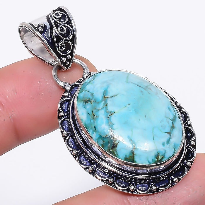 Santa Rosa Turquoise Gemstone Jewelry Pendant 1.9 Inches RP78