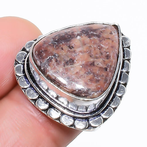 Cappuccino Jasper Gemstone Jewelry Ring Size 7 RR1053