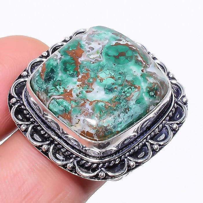 Cuprite Chrysocolla Gemstone Jewelry Ring Size 8 RR111