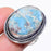 Caribbean Larimar Gemstone Ethnic Jewelry Ring Size 8 RR121