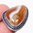 Montana Lace Agate Gemstone Jewelry Ring Size 6 RR140