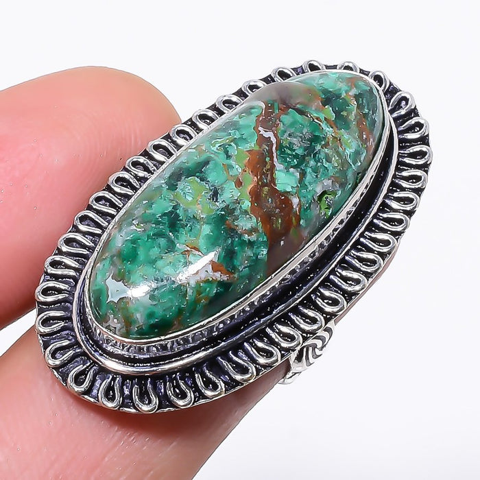 Cuprite Chrysocolla Gemstone Jewelry Ring Size 6 RR147