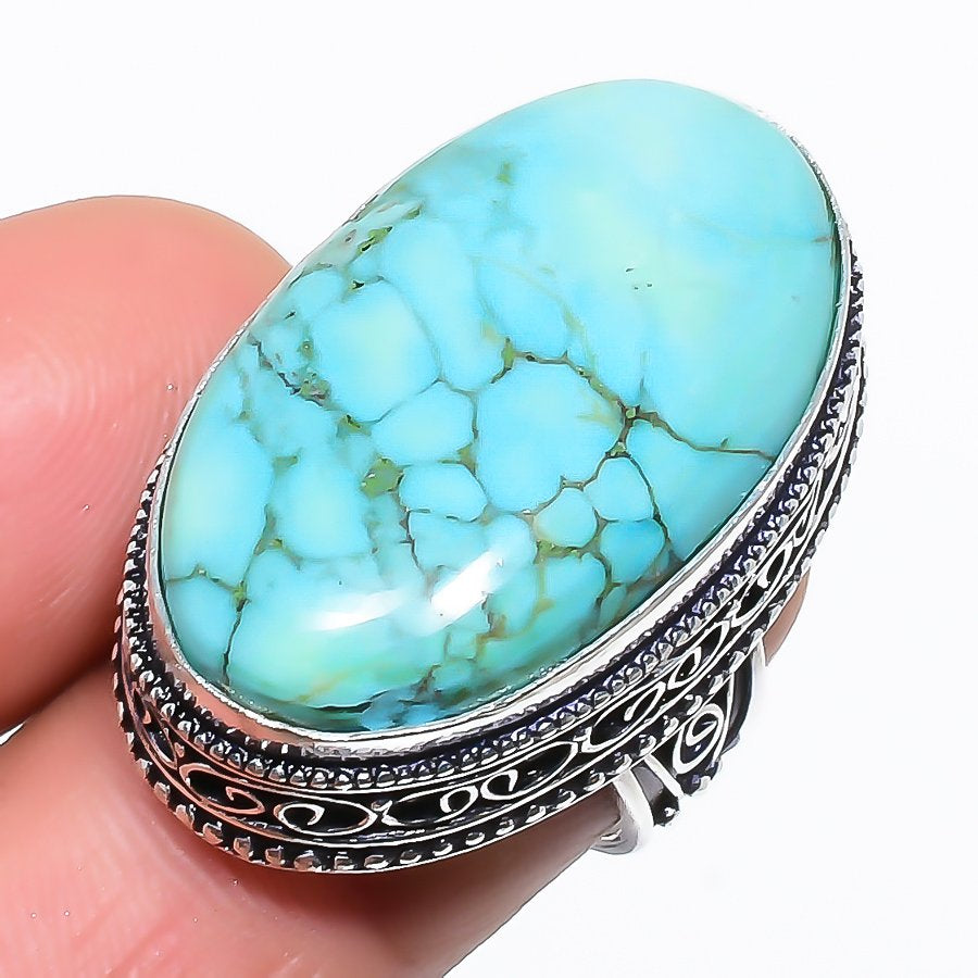Santa Rosa Turquoise Vintage Jewelry Ring Size 6.5 RR1504
