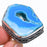 Blue Window Agate Druzy Vintage Jewelry Ring Size 7.5 RR1523