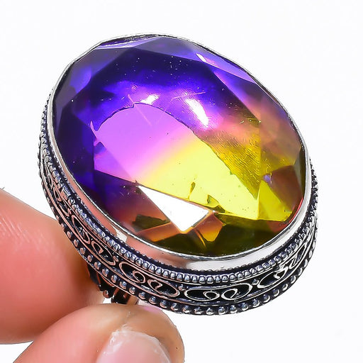 Ametrine Gemstone Vintage Jewelry Ring Size 6.5 RR1563
