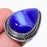 Blue Agate Druzy Gemstone Ethnic Jewelry Ring Size 6 RR182