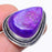 Purple Agate Druzy Gemstone Jewelry Ring Size 7 RR185