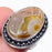 Smokey Agate Druzy Gemstone Jewelry Ring Size 7 RR244