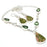 Unakite, Green Amethyst Gemstone Ethnic Jewelry Set RS102