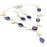 Amethyst, Biwa Pearl Gemstone Handmade Jewelry Set RS111