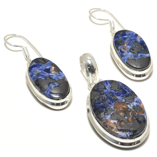 Magnetite Sodalite Gemstone Handmade Jewelry Set RS33