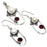 River Pearl, Garnet Gemstone Handmade Jewelry Set RS352